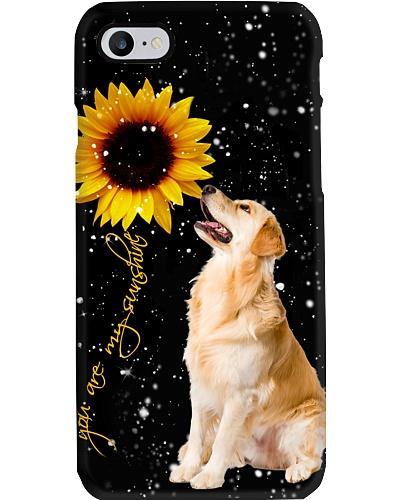 Golden retriever U r my sunshine phone case
