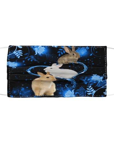 SHN 10 Twinkling blue heart Rabbit