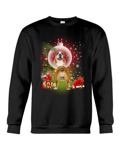 Mirror Christmas Bull Dog
