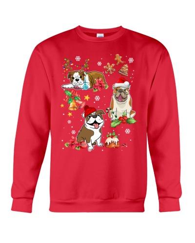 Bulldog chibi merry christmas