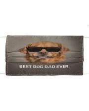 Golden Retriever Best Dog Dad Ever Cloth face mask front