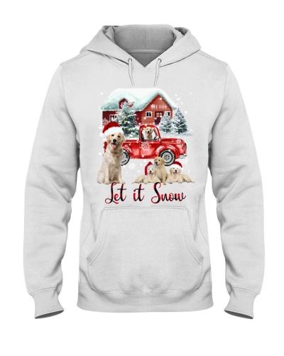 SHN Let it snow Red truck Golden Retriever shirt