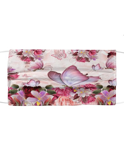 fn Butterfly pink flowers face