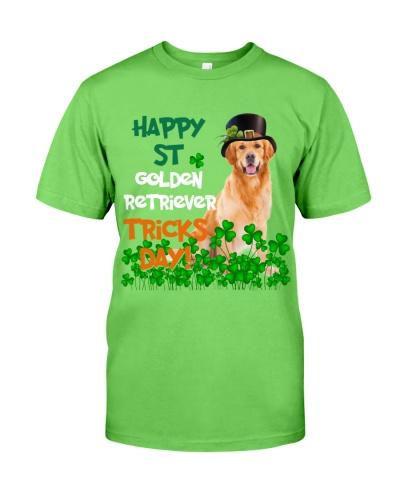 Golden Retriever Happy Patrick Day
