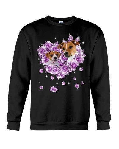 Jack russell terrier mom purple rose shirt