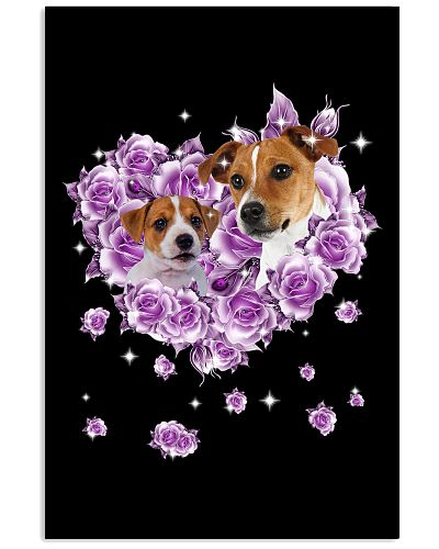 Jack russell terrier mom purple rose shirt