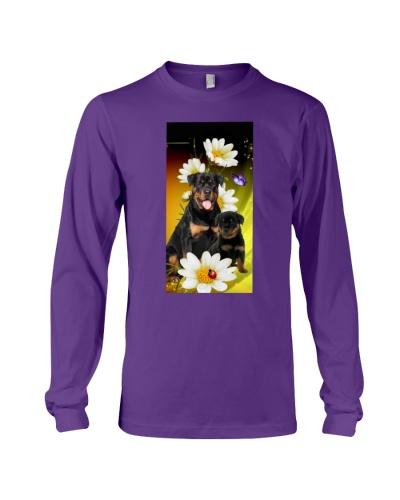 Rottweiler with ladybug daisy