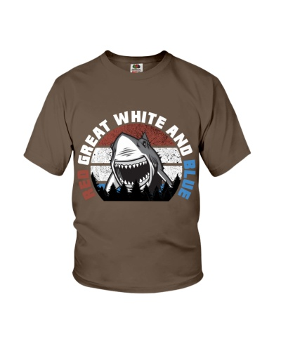 Shark Red Great White And Blue