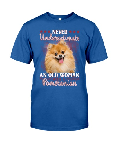 Pomeranian never underestimate old woman