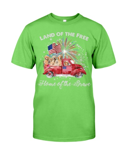SHN 11 Home brave American truck Golden Retriever