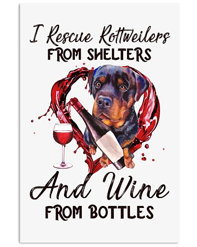 Rottweiler and wine