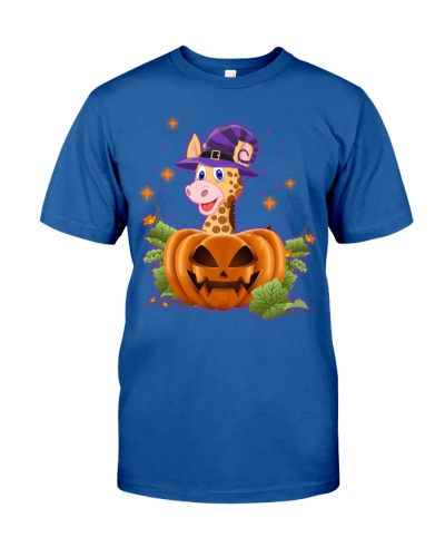 Giraffe purple halloween