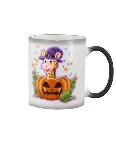 Giraffe purple halloween