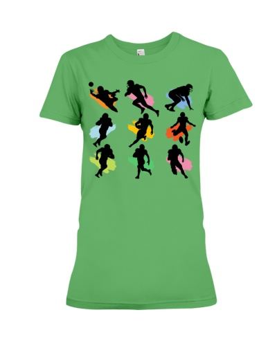 dt 11 football silhouette player cloth 25520