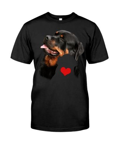 Rottweiler red heart