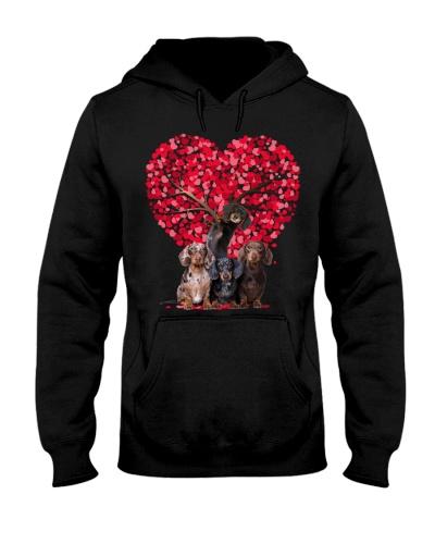 Heart tree and love Dachshund