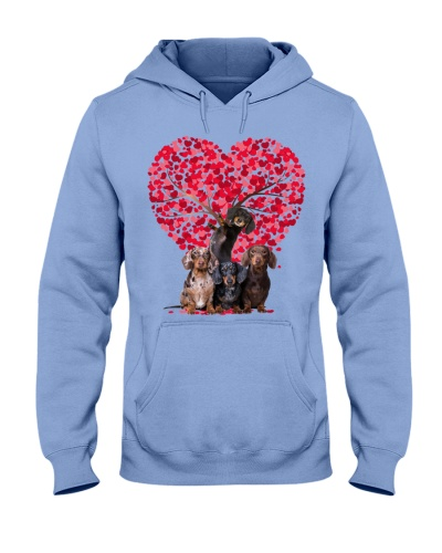 Heart tree and love Dachshund