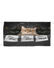 TH 32 Cat Stay At Home Cloth face mask front