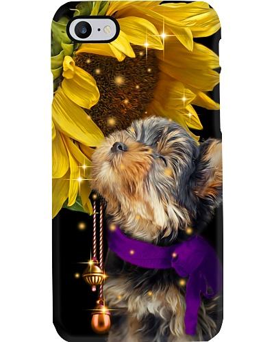 Yorkshire terrier magic sunflower phone case