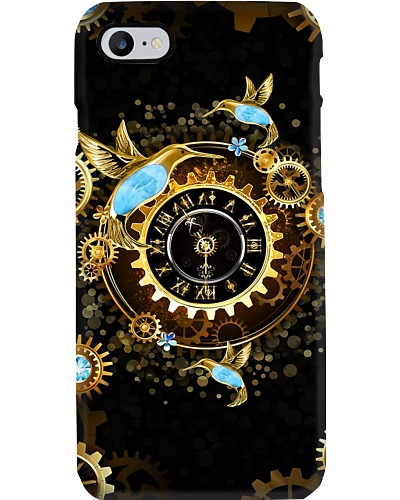 SHN 10 Roman gold clock Hummingbird phone case