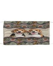 Monica beagle boho pattern Cloth face mask front