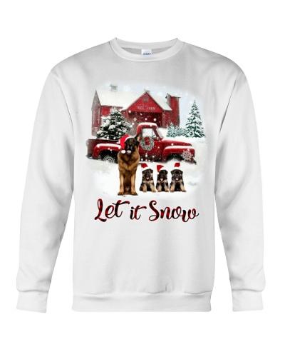 german shepherd let it snow shirt