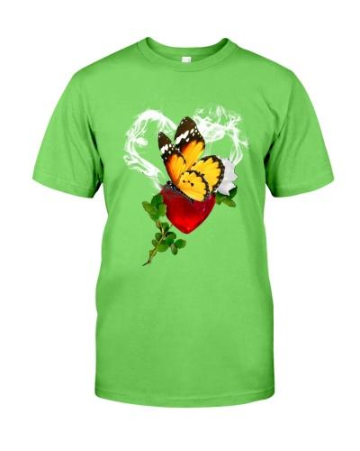 Red diamond heart love Butterfly