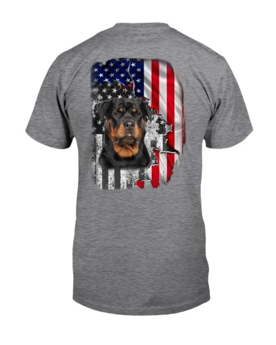Rottweiler flag in back shirt