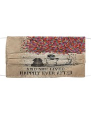 Th 7 Happily ever after a cocker spaniel Cloth face mask front