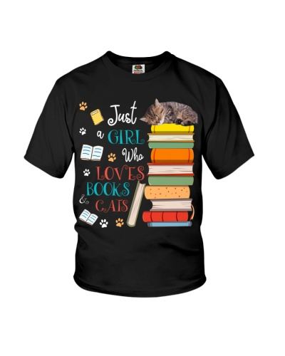 Just A Girl Who Loves Books And Cats