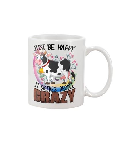 Ln Cow Just Be Happy Mug