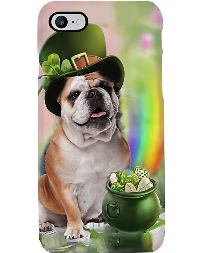 Bulldog Irish Lucky phone case