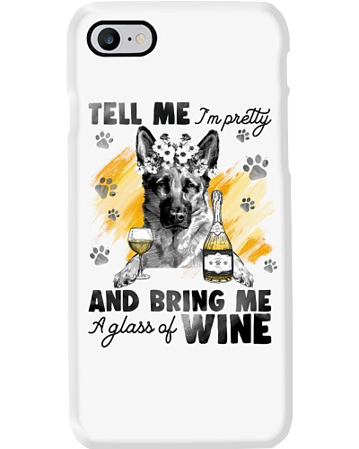German Shepherd And Wine