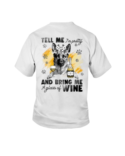 German Shepherd And Wine