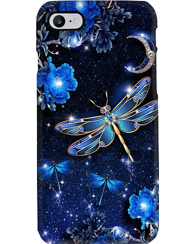 SHN 8 Mystery blue moon Dragonfly phone case