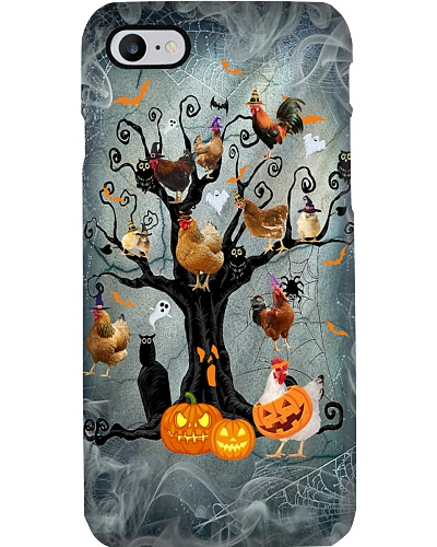 Chicken halloween tree phone case