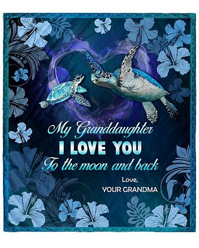 SHN I love you moon and back Granddaughter Grandma
