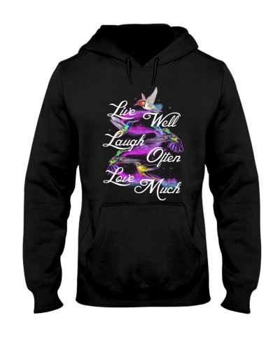 Qhn 10 Live Laugh Love Hummingfbird Hoodie
