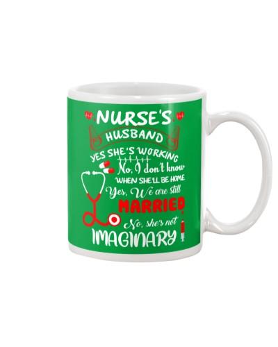 Nurse is husband mug