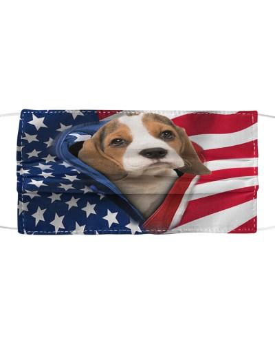 SHN 10 Opened American flag Beagle