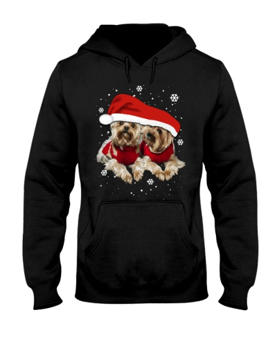 Qhn Christmas Couple Yorkshire Terrier Hoodie