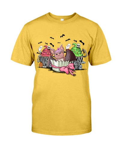 Bat halloween yellow shirt