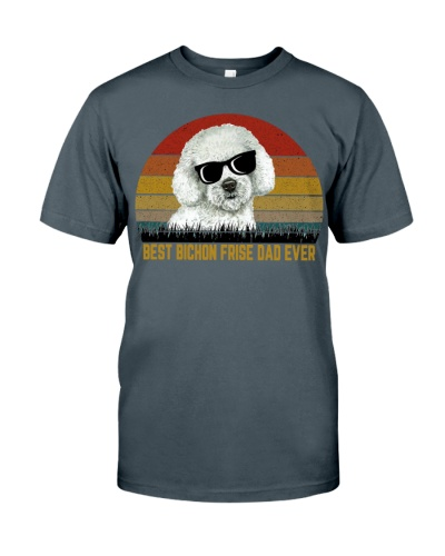 Best Bichon Frise Dad Ever Vintage