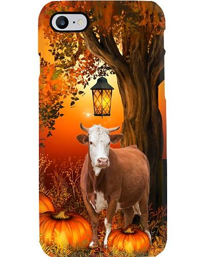 Cow autumn tree case