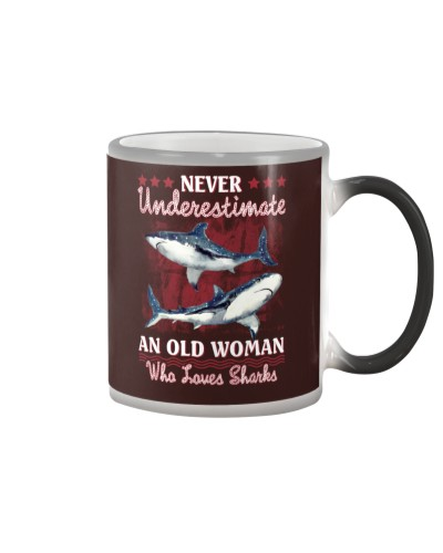 Sharks never underestimate old woman