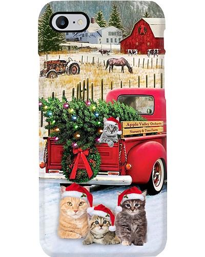 SHN 10 Christmas red truck Cat phone case