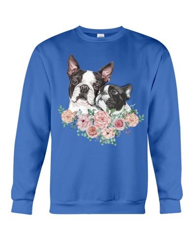 Boston terrier flowers love