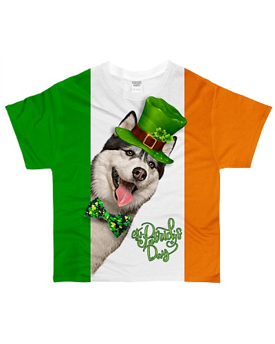 Siberian husky irish all over shirt