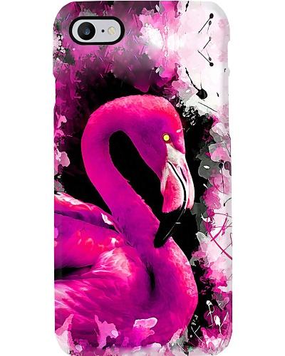 Flamingo water color phonecase