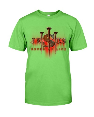 SHN 10 Jesus saved my life Bibble shirt